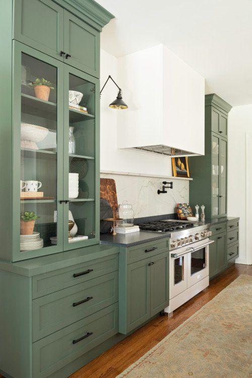 15++ Shaker green kitchen type