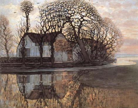 Piet Mondrian, Farm Near Duivendrecht, 1908 on ArtStack #piet-mondrian #art