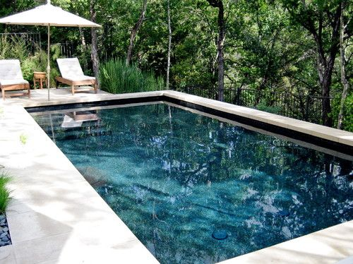 Like the Pebble Tech color contemporary - pool - austin - by Root ...