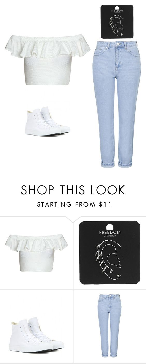 """Outfit Idea by Polyvore Remix"" by polyvore-remix ❤ liked on Polyvore featuring Topshop and Converse"