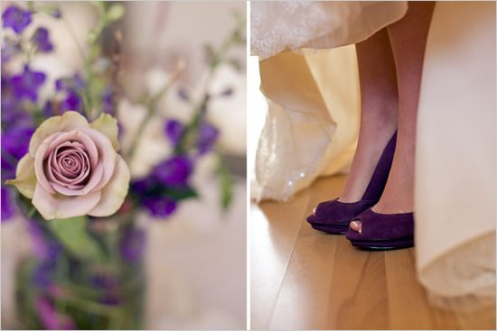 Purple Bride Shoe--Ok, I wore flip flops, but this would have been beautiful!