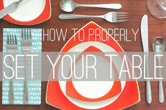 Oh So Lovely Vintage: How to: Properly set your table.