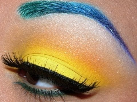 Colorful Brows and Bright Yellow eyeshadow