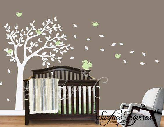 Adorable wall clings for a baby's room!!