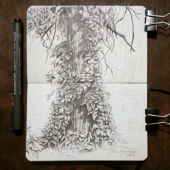Lidia Barragán.  #sketch #sketchbook #moleskine #tree