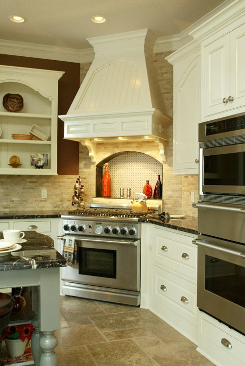 We want to move the stove oven to be caddy cornered like for Corner cooktop designs kitchen