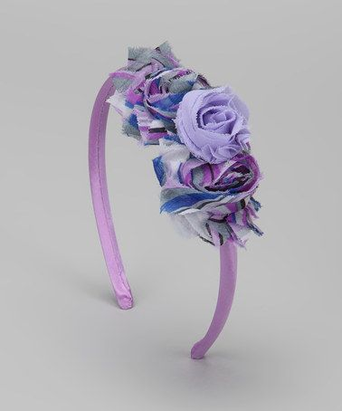 Covered in Cuteness Purple Tie-Dye Rosette Headband by Head-to-Toe Style Collection