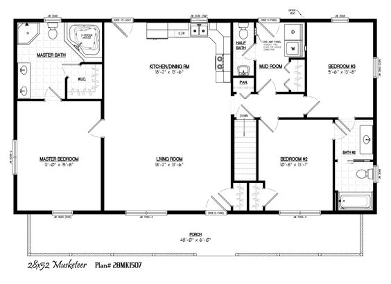 Ranch House Plans 28x 48 28 Images Oilfield Housing