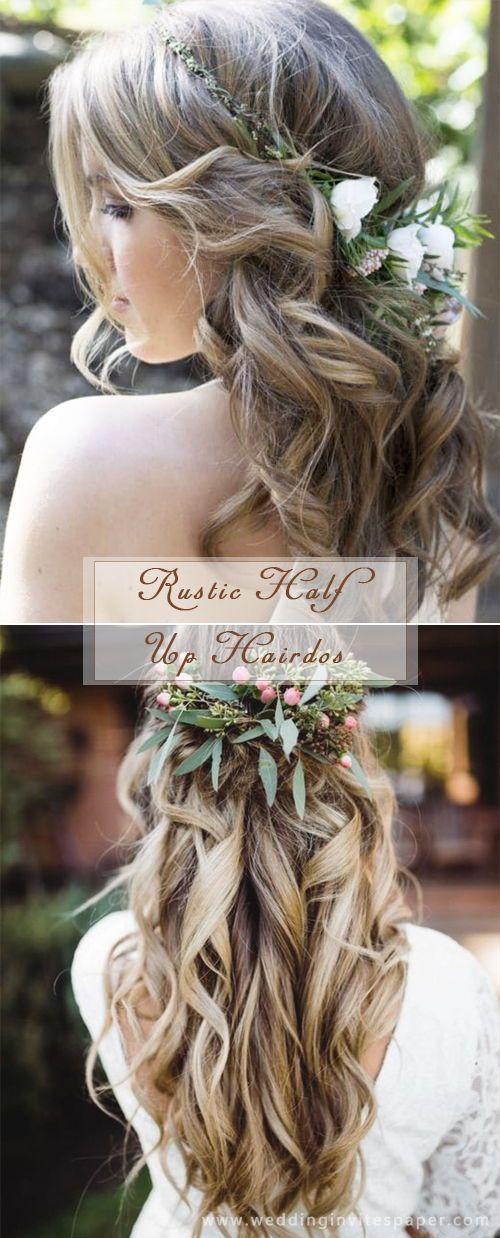 17 Enchanted Rustic Wedding Hairstyles Gardens Gardenideas Gardendesign Garten Wed Country Wedding Hairstyles Rustic Wedding Hairstyles Wedding Hairstyles