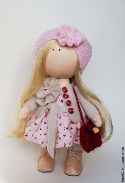 Купить Настенька - авторская ручная работа, текстильная кукла, интерьерная кукла, авторская кукла, розовый