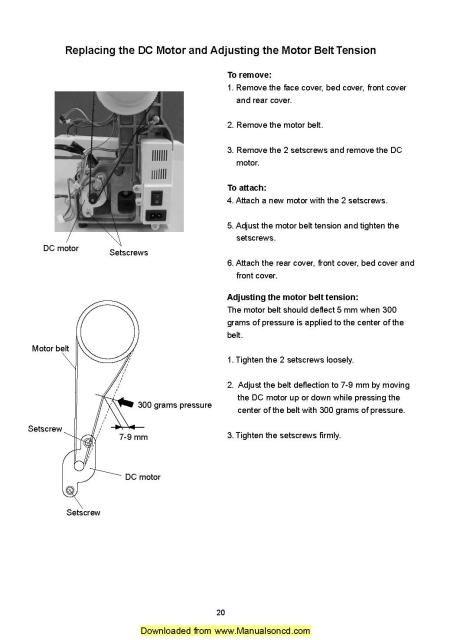 sewing machine timing