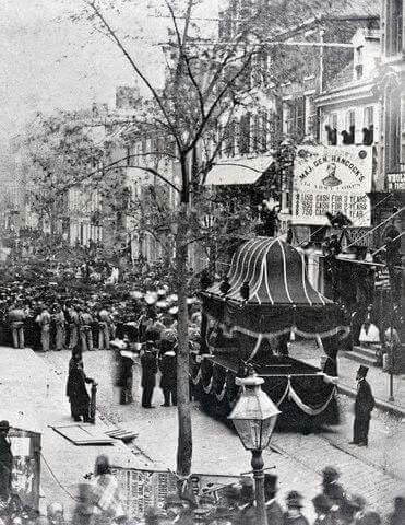 1865. Funeral procession for President Abraham Lincoln ...