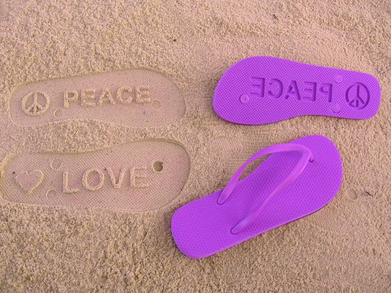 What Kind of Footprints Will YOU LEAVE BEHIND??  Custom Sand Imprint Flip Flops. Your Design. No Minimum Order Quantity.. $19.95, via Etsy.