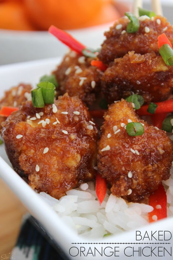Baked Orange Chicken - this recipe is a healthier & easier, ready in 30 minutes, version than the original Chinese Orange Chicken.