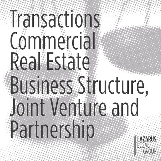 Lazarus Legal Group can help you with Real Estate Transactions - joint venture template