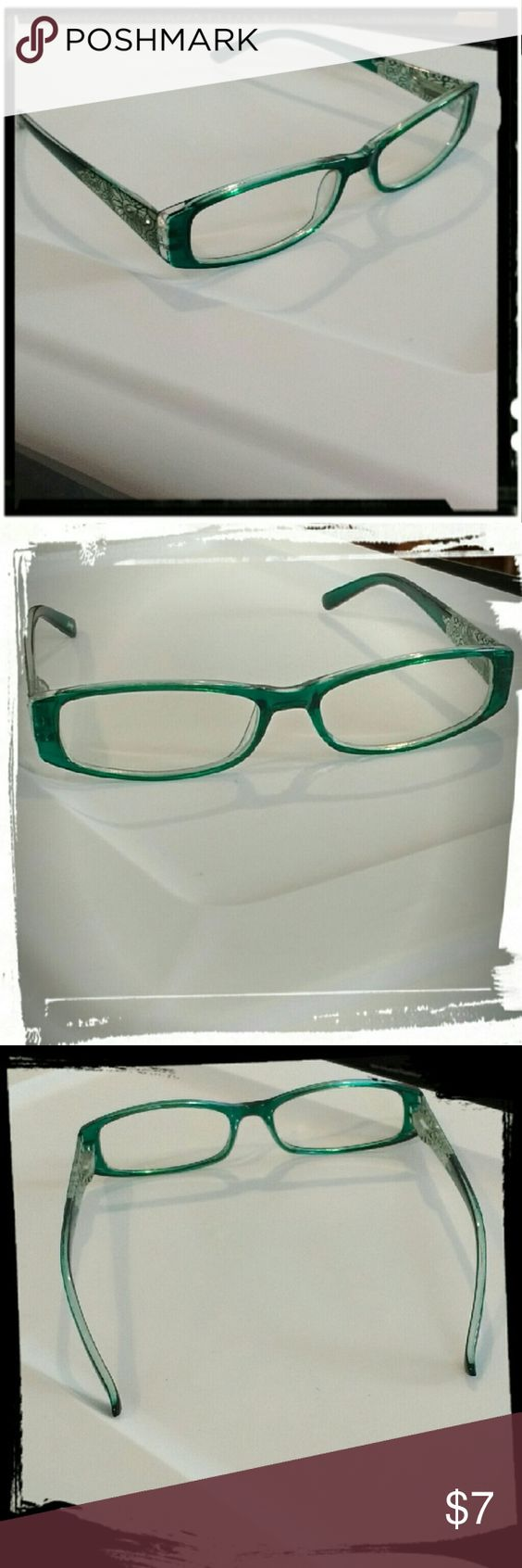 Green Icing glasses Green plastic frame glasses from Icing. Non prescription. Worn once. Icing Accessories Glasses