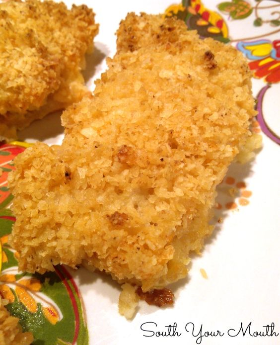 Salt and vinegar potato chip crusted cod baked cod for Bake cod fish
