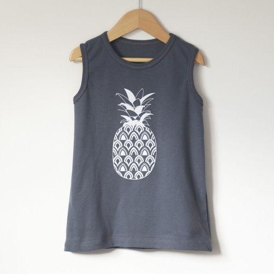 pineapple dress kids organic cotton tank dress