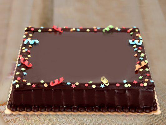 Big Rectangle Cake For Any Celebration Com Imagens Culinaria