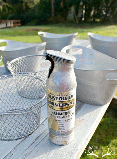 diy projects using rustoleum hammered silver spray paint - Google Search