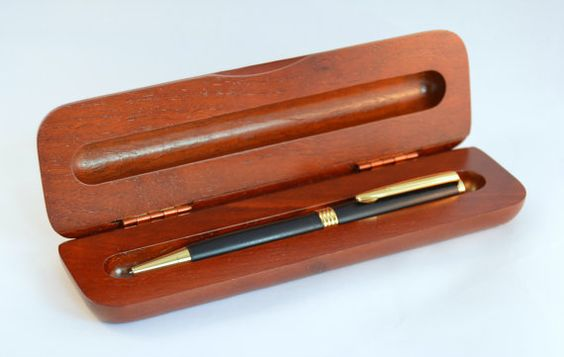 Ebony Trimline Pen with Gold Fittings  Cherry by WhiddensWoodshop
