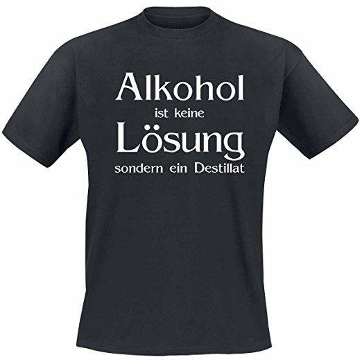 Alkohol Ist Keine Losung Xl Tshirt Spruche Lustig T Shirt Spruche Lustige Tshirt Nahen Tshirt Bemale Lustige T Shirt Spruche Lustige T Shirts Coole Shirts