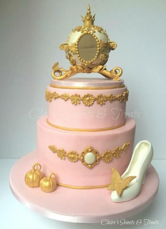 Princess carriage christening cake - Cake by clairessweets
