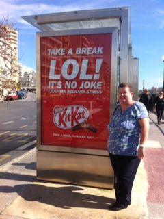 Kit kat poster ad.    In Sliema, Malta.