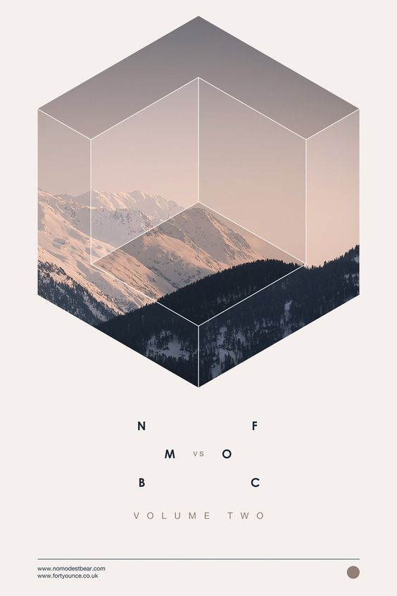 NB - geometric / shapes / photos / layout / design / minimalist / poster / design / Samuel Johnson