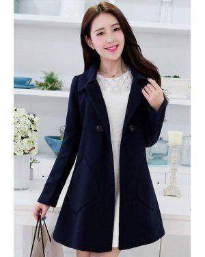 TC000737 Lapel spring and autumn overcoat Korean style cloak