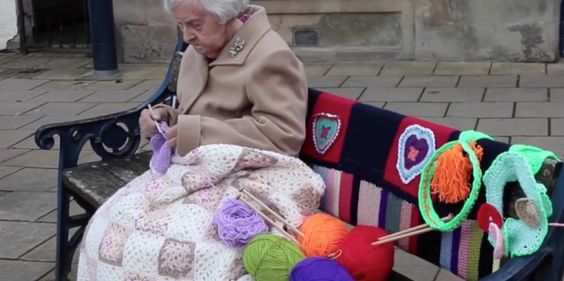 The 104-Year-Old Street Artist Who Yarn-Bombed Her Town   Mental Floss UK