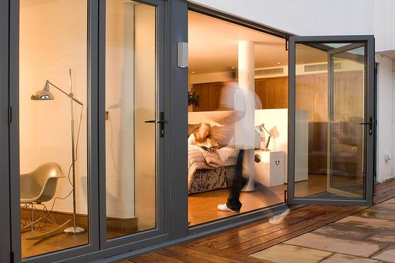 BIfold Door Aluminium by Admiral Homespace, via Flickr
