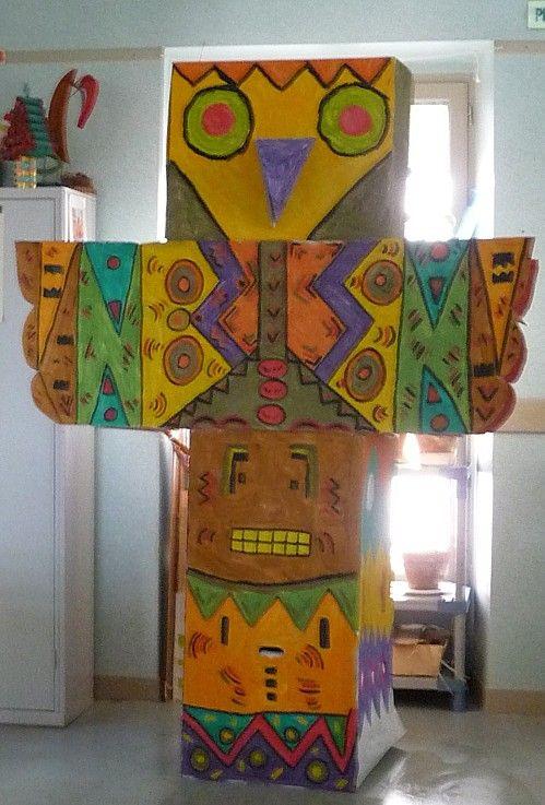 Arts visuels - totem indien - chez Camille