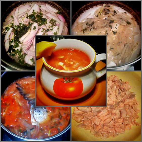 Salmon Head and Tail Soup