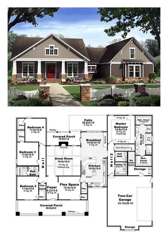 Bungalow style cool house plan id chp 40655 total for Garage with living area