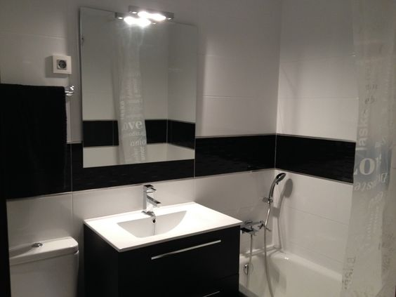 Baño Minimalista Gris:baño minimalista pequeño negro – Buscar con Google