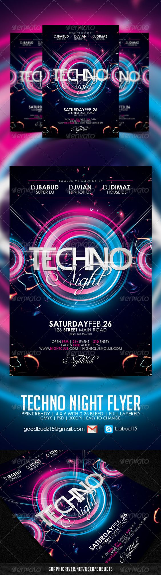 techno night flyer template texts nightclub and galaxies event flyers