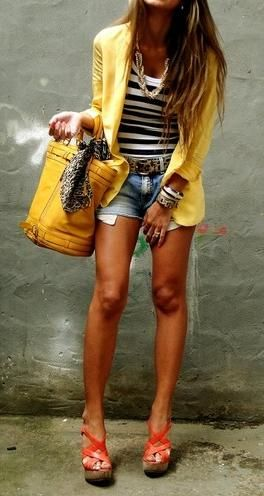 cute cute yellow and denim!