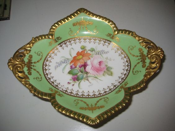ROYAL CROWN DERBY TAZZA FOOTED BOWL H PAINTED FLOWERS BY ALBERT GREGORY in Pottery, Porcelain & Glass, Porcelain/ China, Royal Crown Derby | eBay