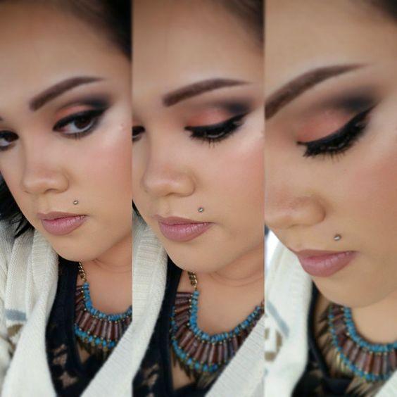 """#motd #eotd #PurMinerals #secretcrush #eyeshadowpalette #Lorac #frontofthelinepro #liquideyeliner in black #NYX #tintedbrowpomade in espresso #MAC…"""