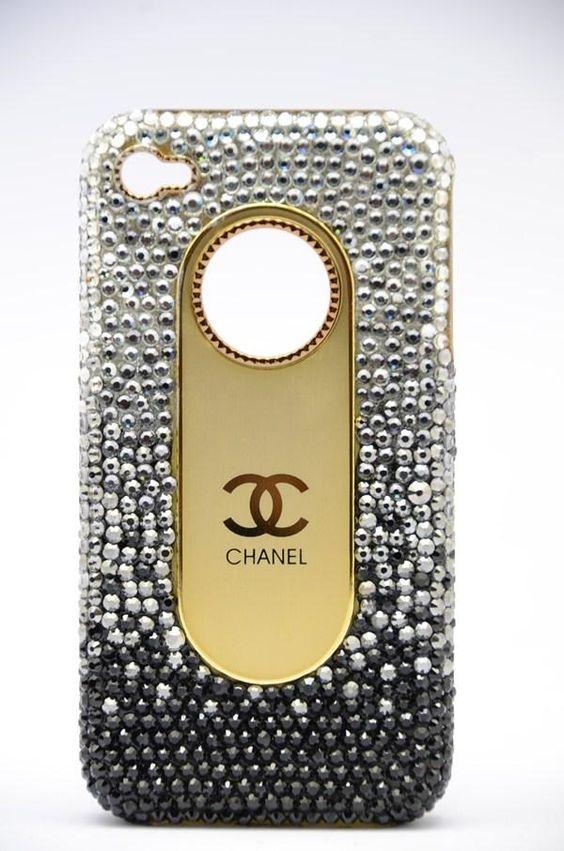 Swarovski crystals fashion Chanel Iphone