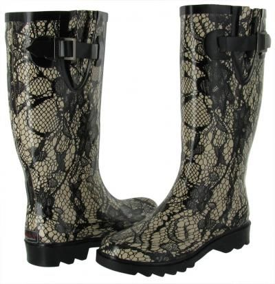 CHOOKA Lacey Lace Womens Rubber Rain Boot