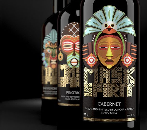 Design / Mask Spirit. Collection of New World wines