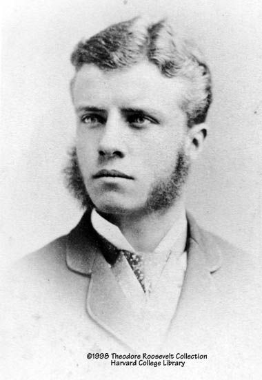 Young Theodore Roosevelt, upon graduating from Harvard.  Impressive side whiskers.