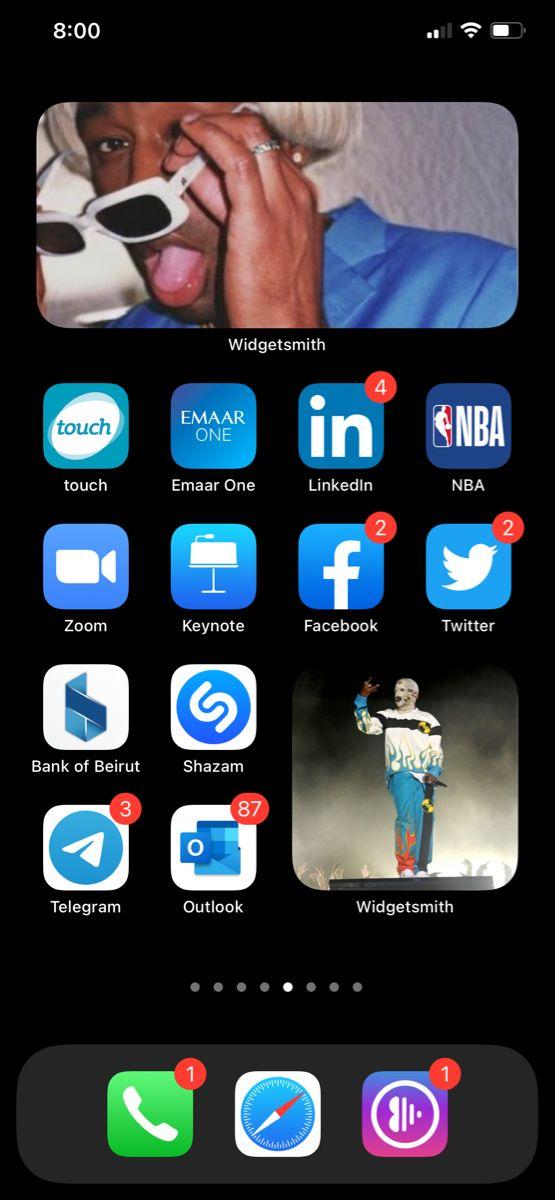 Blue Screen Widget Smith Ios14 Homescreen Iphone Iphone Organization Homescreen
