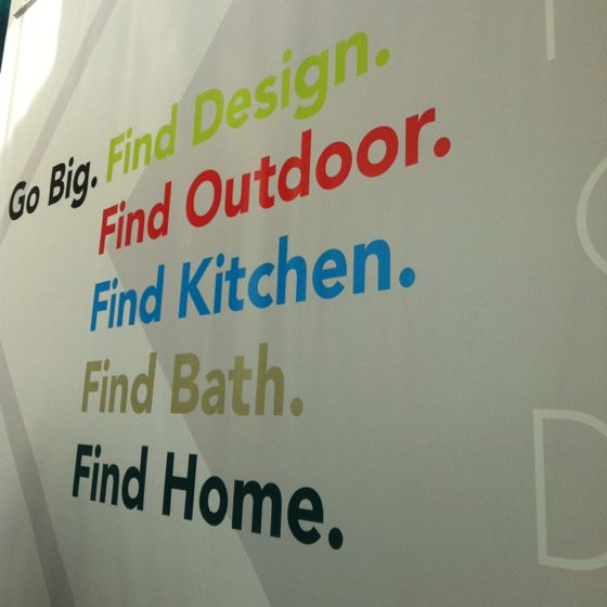 #dwellondesign // giant sign; giant exhibition hall!