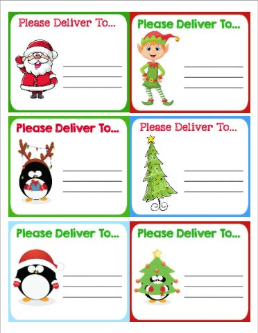 Free Printable Christmas Shipping Labels & Holiday Tips | Regalos ...