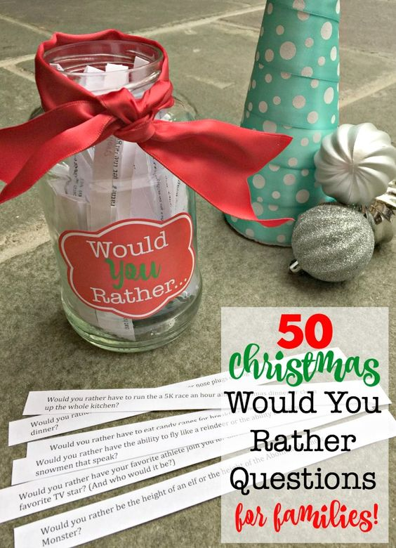 Looking for a fun game to play together as a family this holiday season? Then download these 50 Christmas Would You Rather questions! (Free Printable!)