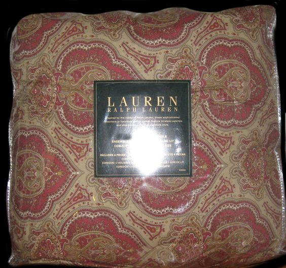 RALPH LAUREN King Comforter Set 4PC NOTTINGHAM RED PAISLEY  #RalphLauren #Traditional