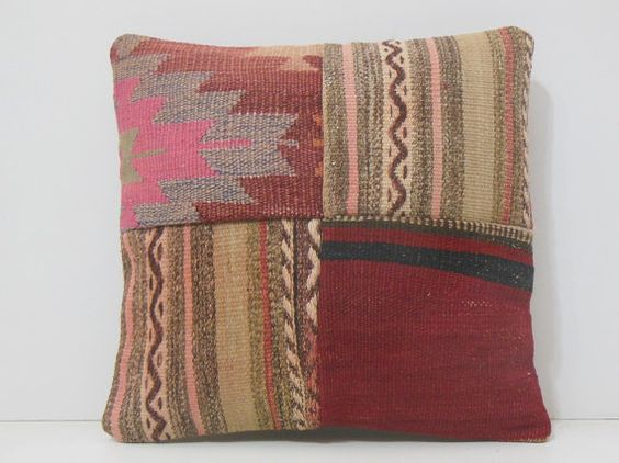 kilim pillow bed throw pillow 16x16 DECOLIC by DECOLICKILIMPILLOWS